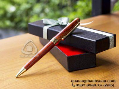 Bút Gỗ Maple Kiểu Xoay Nâu Đen Cao Cấp - GMP03