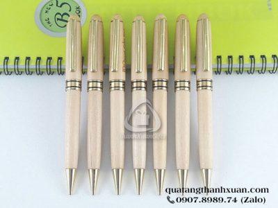 Bút Gỗ Maple Kiểu Xoay Thân Trắng Sáng - GMP02