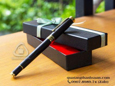 Bút Gỗ Mun Nắp Rời Thân Đen Phối Vàng - GMU01N