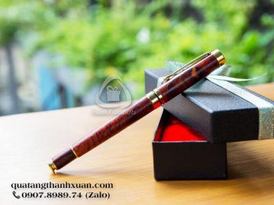 Bút Gỗ Sưa Kiểu Nắp Rời Phối Vàng - GSU01N