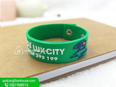 Vòng Tay Cao Su Nút Xi Bảng To LuxCity