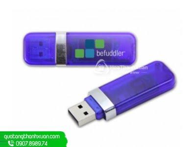 USB Nhựa Trong Nắp Rời Viền Bạc - UVN06