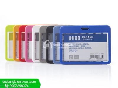 Bao Đựng Thẻ Nhựa 2 Mặt To - UHOO 6637